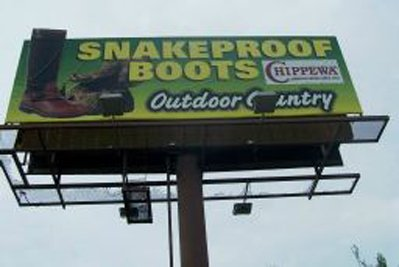 Chippewa Snakeboot Billboard