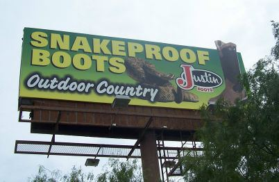 Justin Boot Billboard
