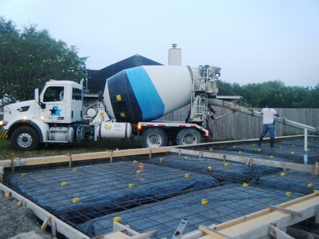 First Load of Concrete